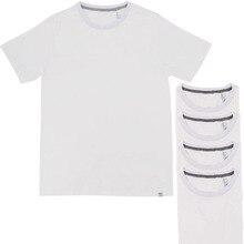 LAUKEXIN Big Tall US Size Mens Womens White Plain tee shirts S M L XL XXL  XXXL Cotton bbb22703b5b3