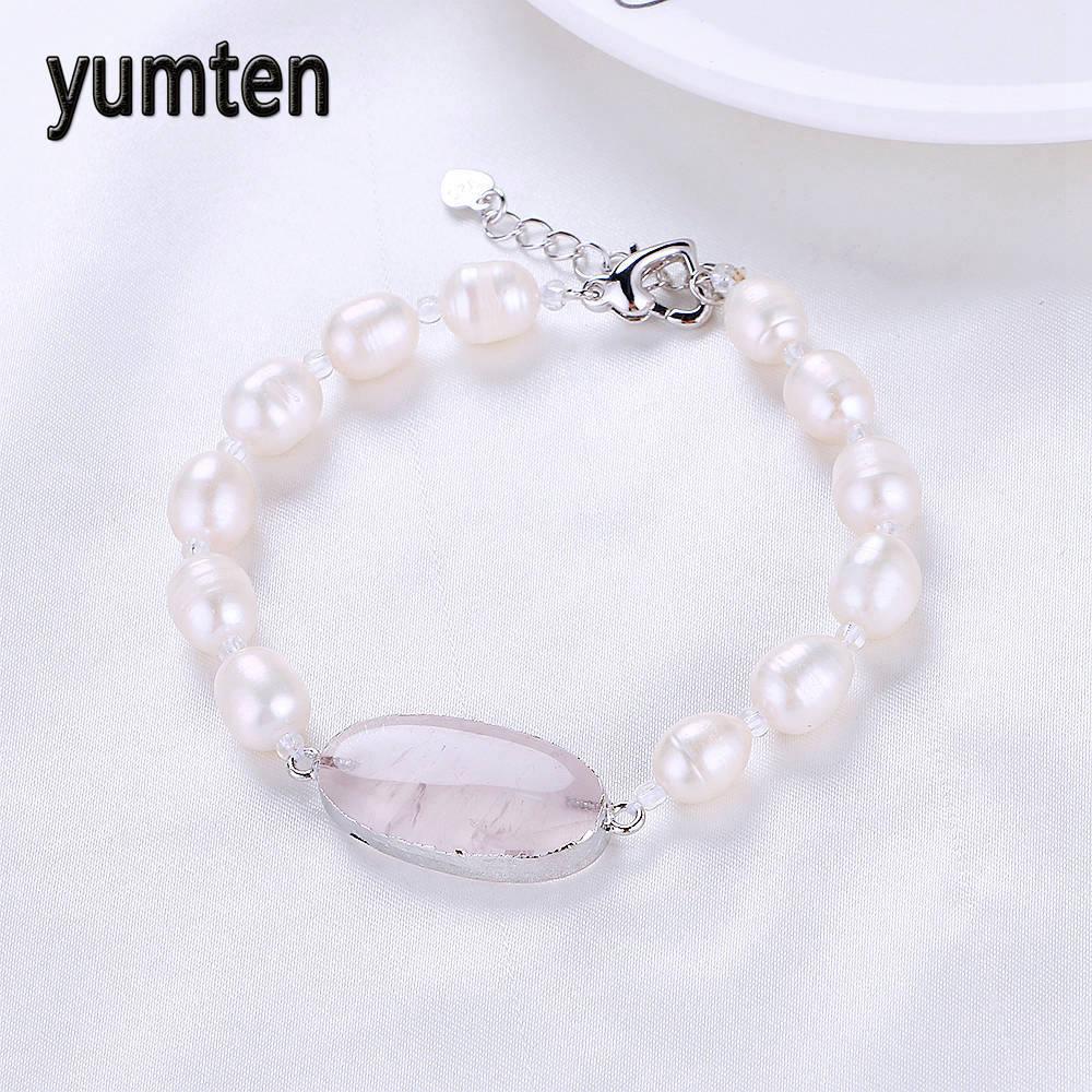 ٩(^‿^)۶Yumten naturaleza perlas de agua dulce pulseras mujeres amor ...