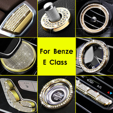 Diamond Style Center Clock Frame Cover Seat Adjust Button Cover Volume Adjust Switch Cover Trim For Mercedes Benz E Class