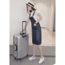 Elegdream 2017 Summer Style Loose Strap Jeans Dress Preppy Style Suspender Denim Sundress Denim Overall Dress Plus Size S XXXXXL