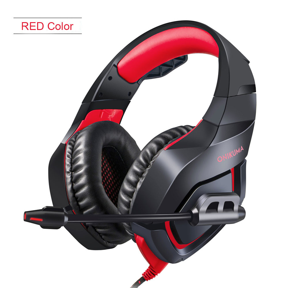 ONIKUMA K1 Casque PS4 Headset with Microphone Stereo Gaming Headphones for Cell Phone New Xbox One Laptop PC (4)