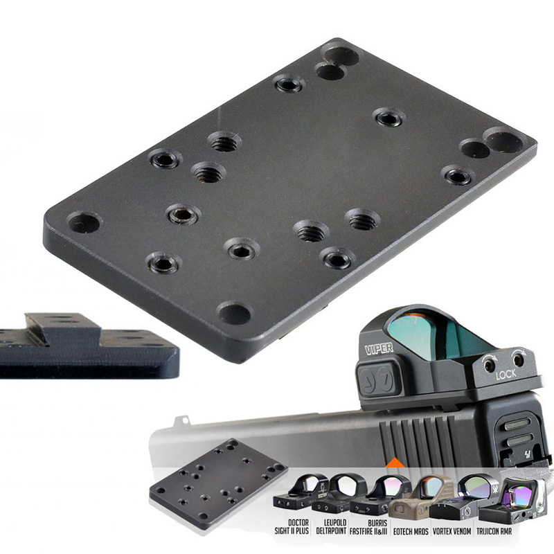 Steel Glock Rear Sight Plate Base Mount Fit For Universal Red Dot Sight Scope Handgun Accessories
