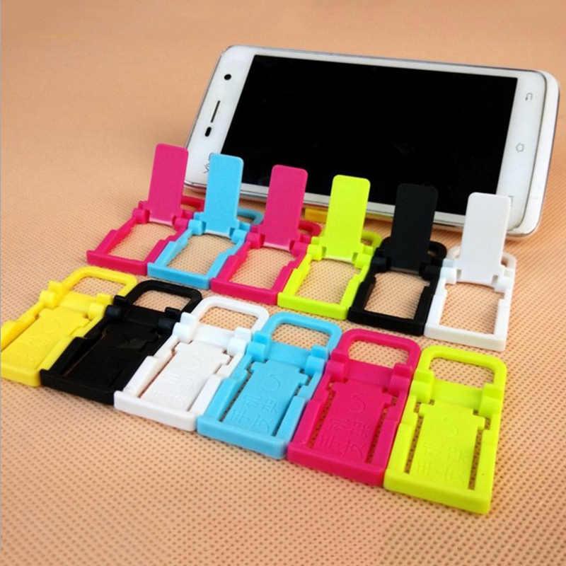 10 pcs الأزياء العالمي أرخص قابل للتعديل طوي حامل حامل ل اللوحي هاتف ذكي هدية الكريسماس عشوائي اللون P15