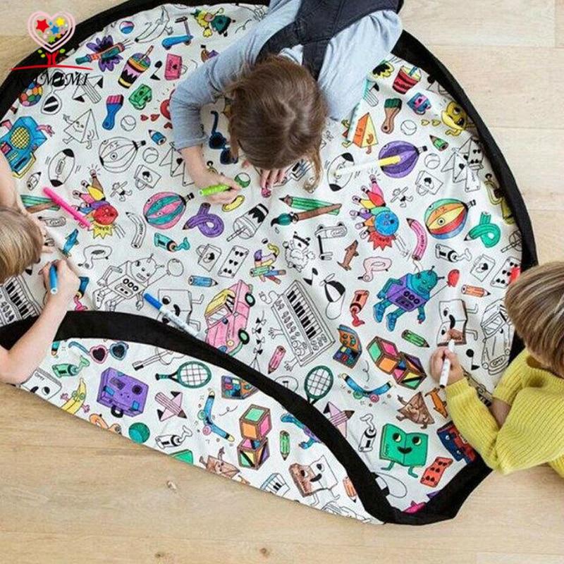 2017 Hot Baby DIY Opbevaring Fancy Doodles Tæppe Kamimi Børn Graffiti Spædbarn Boligindretning Børn Tæppe Legetøj Tæpper