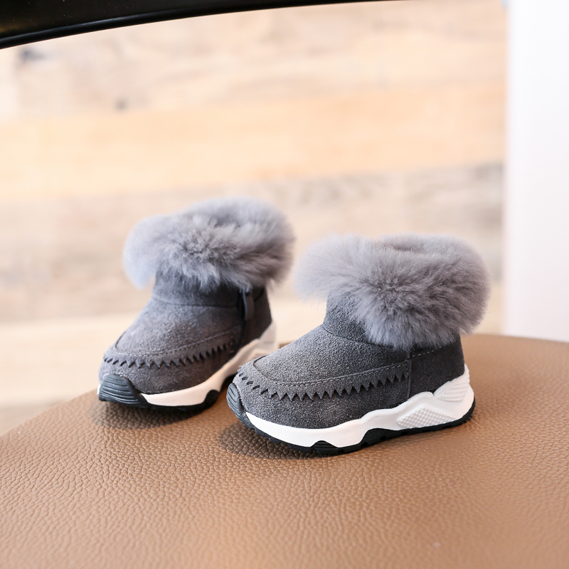 Nauhutu classic designer s winter fur boots toddler baby girl or boy fit  snow shoes outside infant warm new born shoe toddler -in Boots from Mother    Kids ... efb9b10793cc
