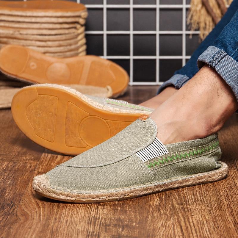 Lona Blue Verano Casual Mens green Perezosos Hombres En Alpargatas Moda Pisos Flat brawn Flat Deslizamiento Clásicos Flat Lujo Marca Zapatos De BnnqwfA7Z