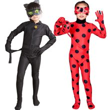 Lady Bug Costume New Ladybug Black Cat Noir Party Kids Adult