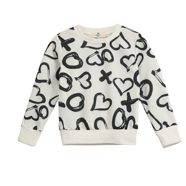 Winter fashion children's clothes girl thickening warm heart children wool sweater thick coat