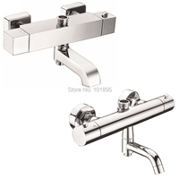 X9017BS2 Luxury Wall Mounted Brass Material Thermostatic Shower Faucet