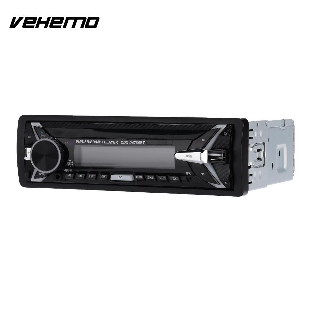 Vehemo Amovible Écran Coloré Éclairage Effet Auto Audio Voiture MP3 Bluetooth Voiture MP3 Lecteur Headunit Audio Player Smart FM