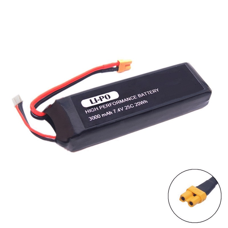 GTF 1PCS 7.4V 3000mAh upgrade Battery for mjx B3 Bugs 3 Force1 F100 Contixo F17 RC quadcopter drone spare parts