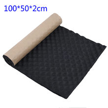 Car Sound Noise Deadener Insulation Acoustic Dampening Foam Subwoofer Pad Black 100*50*2cm Practical Universal(China)