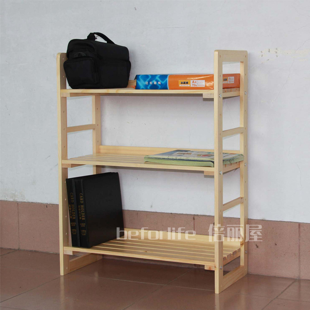 Ikea Style Racks Wood Storage Rack Shelves Three Times Lai J