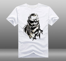 Mens Casual MGS Metal Gear Solid V 5 Big Boss Naked Snake 100% Cotton Short Sleeve Print Pattern T-shirts Tees Tops 3 Styles