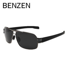 BENZEN Men Polarized Sunglasses Alloy Male Driving Sun Glasses Fishing Goggles Eyewear Oculos De Sol Masculino With Case 9034