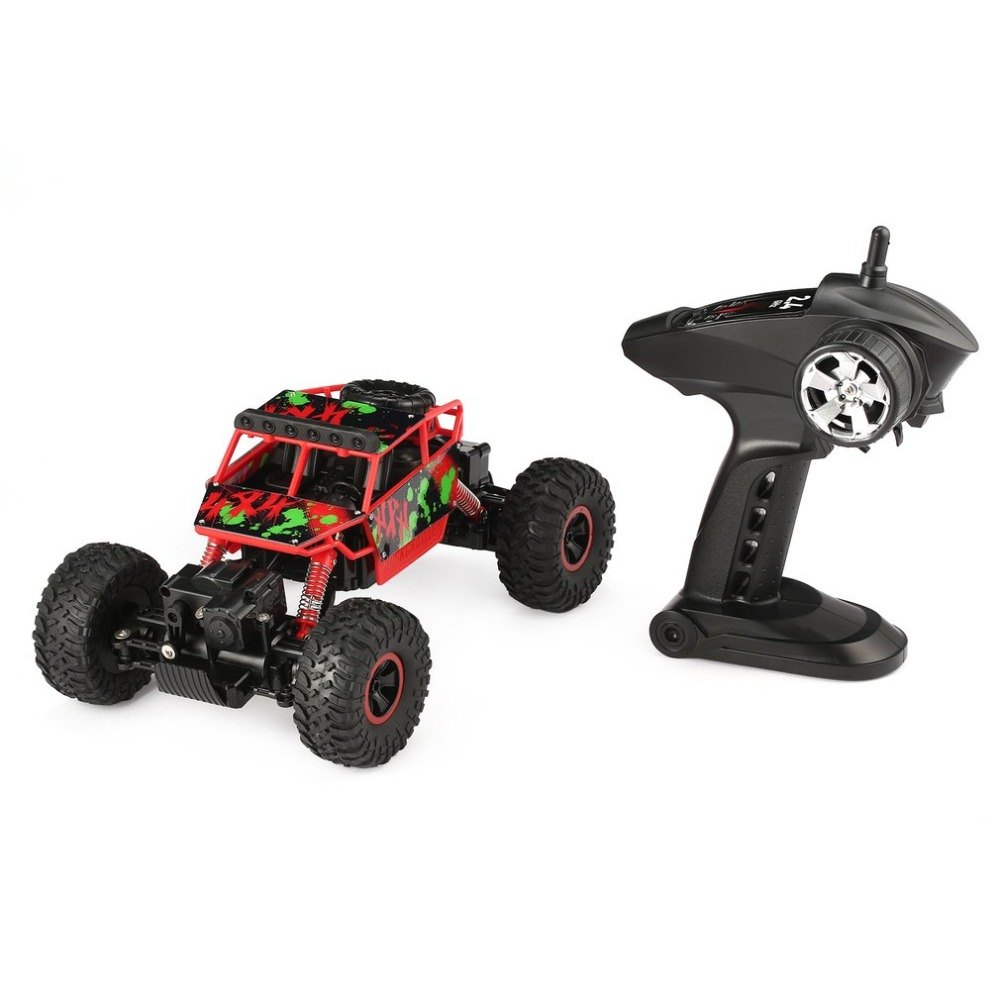 RC Car YY300 2.4GHz 1/18 Scale 20km/h Double Motors 4WD Bigfoot Rock Crawler Climbing RC Car Off-Road Vehicle Toy for Kids Gift