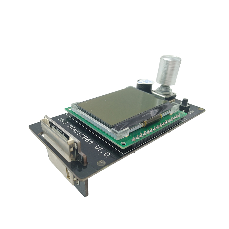 3d printer parts Reprap MKS MINI12864LCD smart display Marlin DIY SD card controller Reprapdiscount Full Graphic for motherboard for 3d printer part mks base2 v1 2 good for metal chassis preset sd card slot perfect anti interference excellent stability