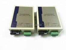 2 шт./лот RS485 для оптического Волокно модем одномодовый SC 20 км RS485 конвертер Ethernet волокна