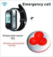SHIHUI беспроводной пейджер Coaster Ресторан вызова подкачки системы 5 наручные часы хост + 10 Настольный звонок пейджер ресторанное оборудование