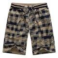 2017 Summer Men Shorts Plaid Classic Design Cotton Casual Beach Short Pants Brand Famous Shorts Plus Size High Quality