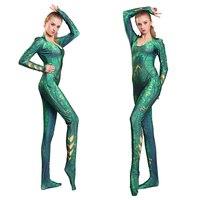 Adult Women Kids Aquaman Mera Cosplay Costume Jumpsuit Movie Aquaman Mera Queen Cosplay Costume Bodysuit Jumpsuits Dropshipping