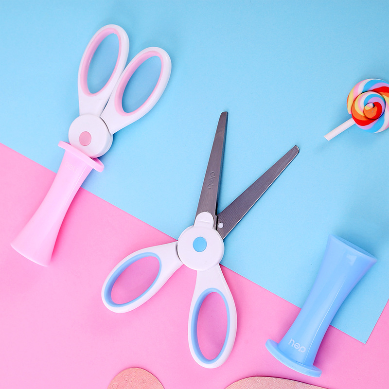 1 Pcs Student Mini Scissors Cute Rabbit Safety Scissors Stationery Kids Craft DIY Tools School Papeleria Kindergarten Supplies