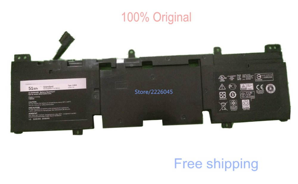 IECWANX 100% new Laptop Battery 3V806( 14.8V 51Wh 3430mAh) for Dell Alienware ECHO 13 Series Alienware QHD Series