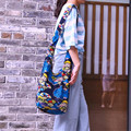 Новая Мода Этническая Ветер Литературный Женщины Одноместный сумки На Ремне Марка Печать Женщины Сумка Хлопок Подростков Дорожная Сумка B360