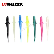 LUSHAZER 14pcs/lot soft fishing lure 1g 3g carp fishing iscas artificiais soft baits silicone bait bass lures worm soft lure