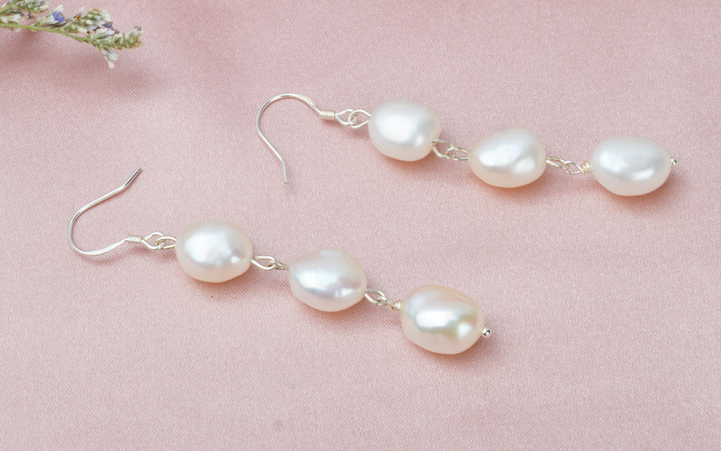 HTB1zfEEjgTqK1RjSZPhq6xfOFXaD - ASHIQI Natural Baroque Pearl Long Earrings For Women Gray freshwater pearl Handmade 925 Sterling Silver drop earrings Party Gift