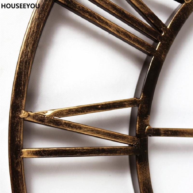 aliexpress acheter vintage 3d grand mur horloges en fer forgé