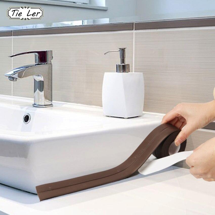 3.8cmX3.2m Self Adhesive Tape Waterproof Anti Moisture Bathroom Mosaic PVC Wall Sticker Kitchen Ceramic Stickers Home Decor