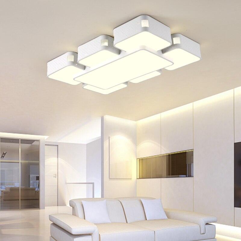 Modern Led Pendant Lamps Living Room Acrylic Fixture: Modern LED Living Room Ceiling Lights Iron Art Fixtures