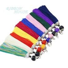 10cm Silk Key Tassels/jewelry accessories/jewelry findings/earrings accessories wholesale цена