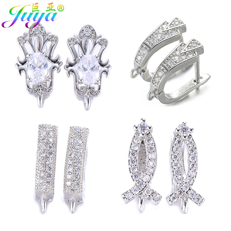 Juya DIY Earring Jewelry Making Supplie Handicraft Bases Earring Hooks Accessories For Women Fashion Hoop Dangle Earrings Making