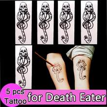 5x Dooddoeners Dark Mark Tatoeages voor Potter Cosplay Dansen Party Accessoires Dans Arm Art Make Up(China)