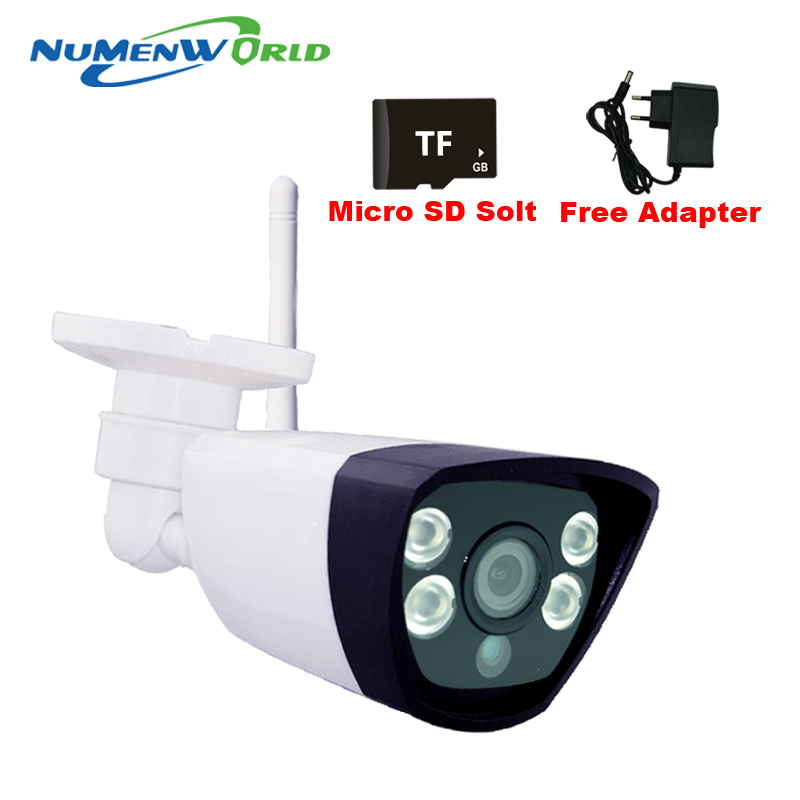ФОТО ABS Plastic Material Wireless IP Camera 720P With SD Slot Max 32G One Key WPS Wifi Camera IP Home Surveillance CCTV p2p network