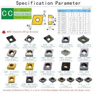 Image 3 - MZG remise prix CCMT09T308 MT ZN60 tournant alésage coupe CNC carbure Cermet Inserts pour le traitement de lacier SCLC porte outil