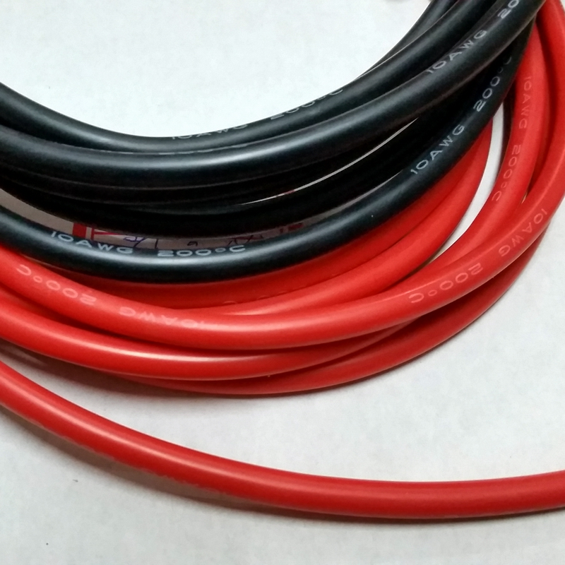 <font><b>10AWG</b></font> soft high temperature <font><b>silicone</b></font> <font><b>wire</b></font> 0.08mmx1050 core <font><b>wire</b></font> Model aircraft power cable 2meter/lot image