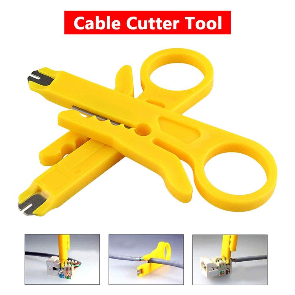 Поворотный удар вниз, сетевой кабель UTP резаком монтажным провода инструмент 9 см мини для зачистки кабеля STP резак телефонный провод для стр...