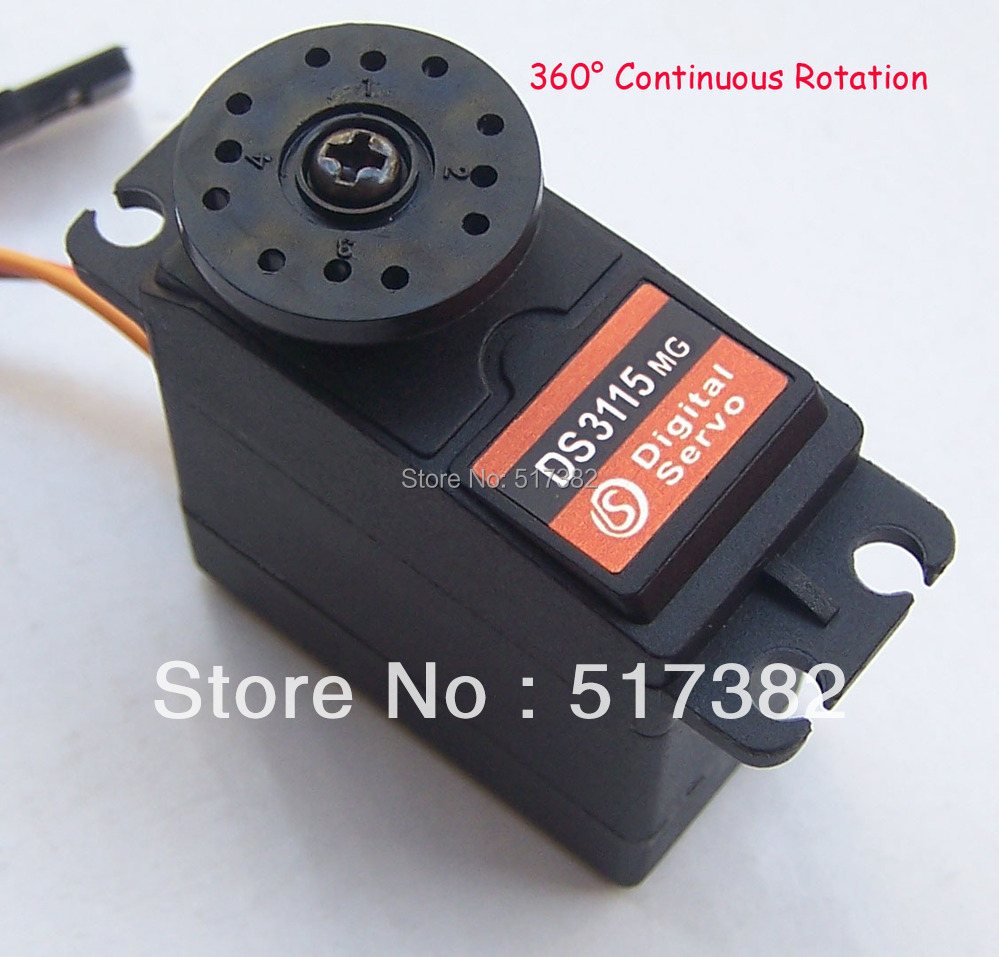 Freeship servo 360 degree Continuous Rotation Servo DS3115 Metal gear arduino servo Digital servo 15kg/cm