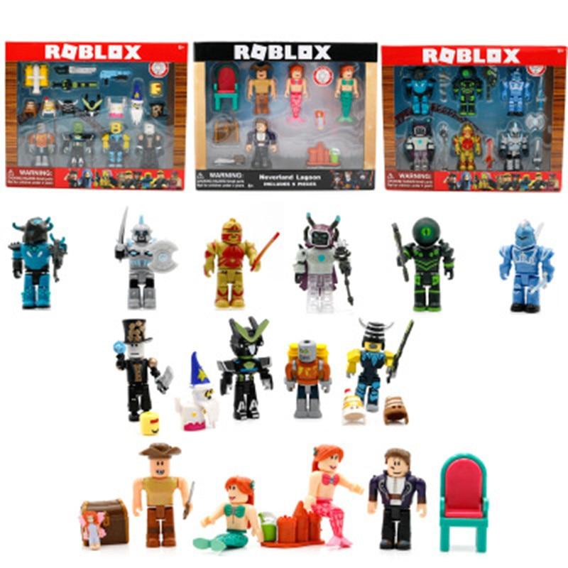 2019 4/6/9 piezas Roblox personajes figura 7/7. 5 cm PVC juego Figma Oyuncak acción Figuras juguetes Roblox niños juguetes para los niños