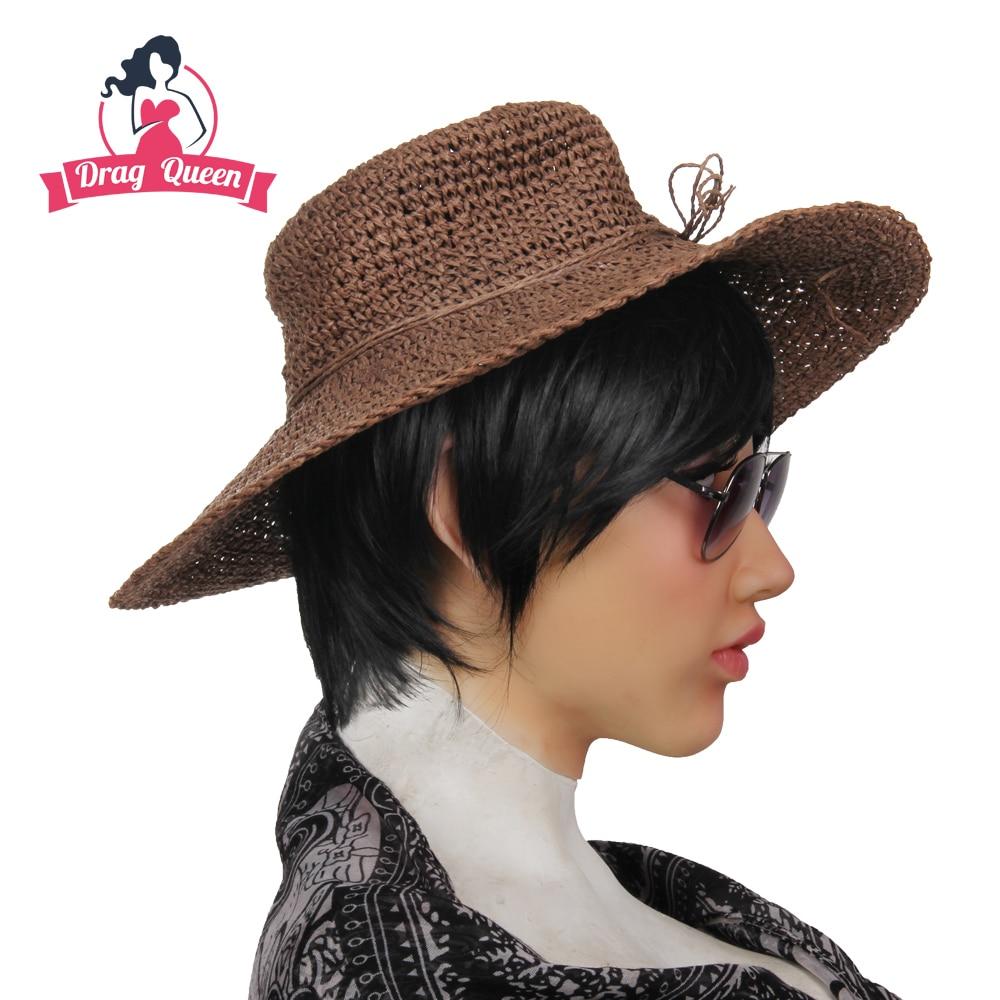 Realistic Silicone Mask Shivell Wig Female Headwear Masquerade Crossdresser Face