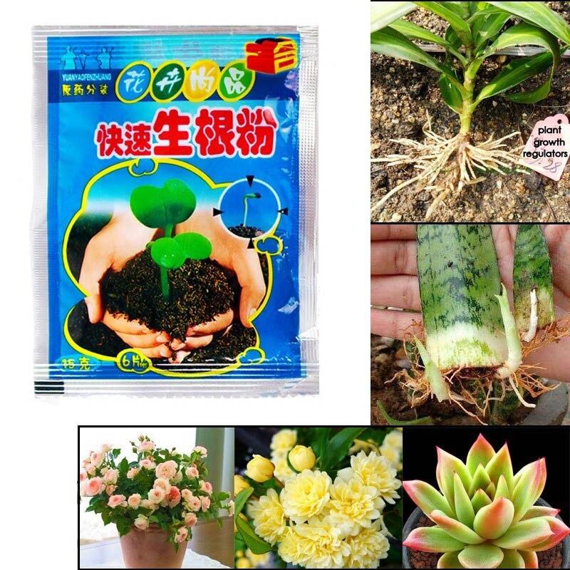 10 мешков Быстрый порошок для укоренения агент для фруктового дерева вырезанные цветы растения E2S