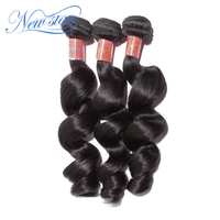 hot sale new star hair Brazilian loose curl loose wave virgin unprocessed hair extensions 3 pieces/lot one donor hair weaves