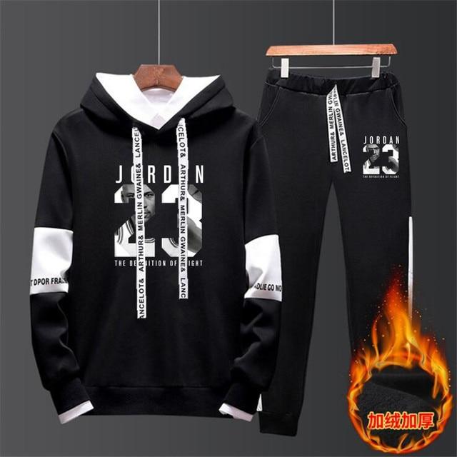 1b0941e13 2019 Spring Autumn Men Tracksuits Outwear Hoodies JORDAN 23 Sportwear Sets  Male Sweatshirts Men Set Clothing