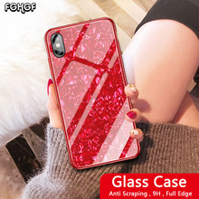 Glitt Case For Huawei Honor 8X max Case Note 10 Shell Tempered Glass Hard Cover For Huawei Honor PLAY V10 View 10 Glass Case(China)