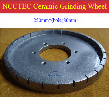 10'' Ceramic Edge Diamond Grinding Disc 10CDG80 | 250mm DRY Grind Squaring Wheel | Hole: 80mm