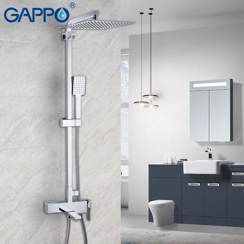 GAPPO смеситель для душа настенный латунный душ Griferia Ванная комната осадков набор для душа ванна кран Ванна Водопад кран