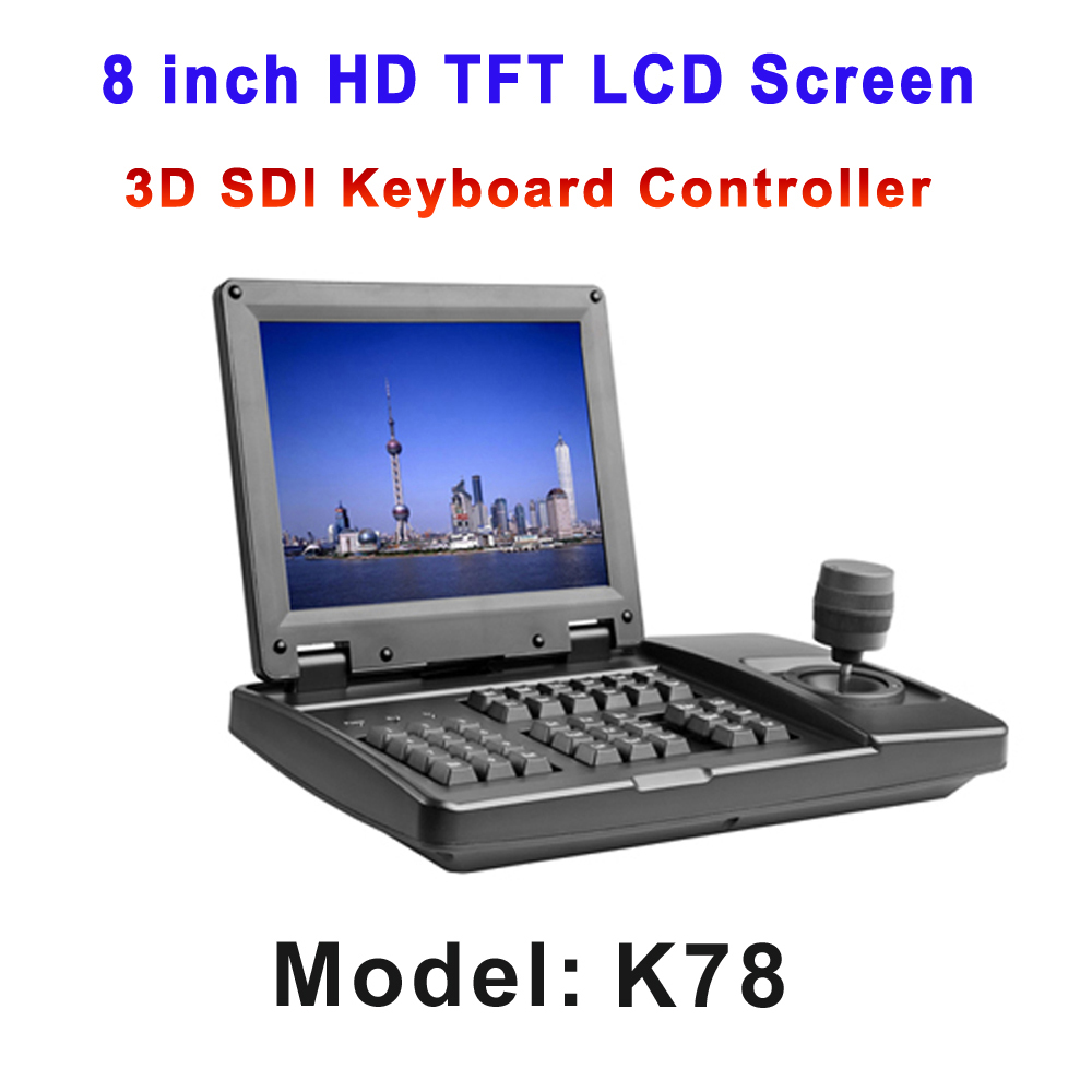 8 inch HD TFT LCD Screen 3-Axis HDSDI Visual Keyboard Controller With HD-SDI CVBS Output for Security Conference camera System цифровая фотокамера 5 hd d3000 16 0mp 3 0 tft slr hd d3000 camera
